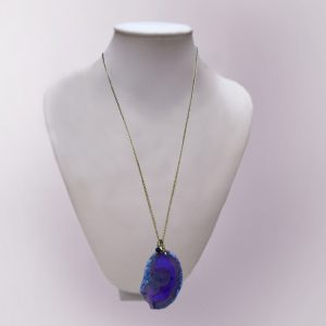 кулон фиолетовый